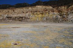 Volcano crater, Nisyros island Stock Photography