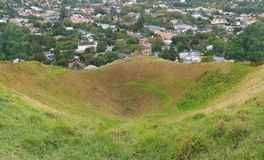 Volcano Crater. Picture of a big extinct volcano crater of Mount Eden Royalty Free Stock Image