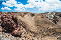 Volcano crater Royalty Free Stock Photo