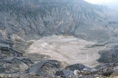 Volcano Crater in Tangkuban Parahu Bandung Indonesia Royalty Free Stock Photo