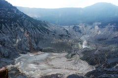 Volcano Crater in Tangkuban Parahu Bandung Indonesia Royalty Free Stock Photos