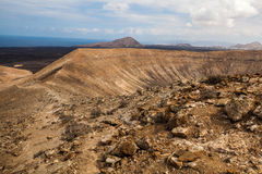 Volcano crater Royalty Free Stock Images