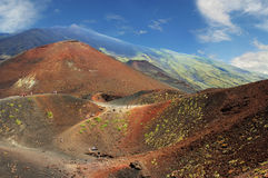 Volcano craters Royalty Free Stock Images