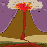 Volcano Cross Section Stock Photos