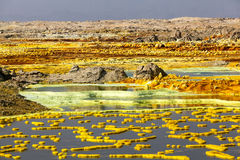 Volcano Dallol, Äthiopien Stockfotografie