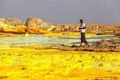 Volcano Dallol, Ethiopië Stock Foto's