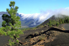Volcano De Caldera de la Taburiente on Canary Island of La Palma Royalty Free Stock Photo