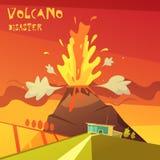 Volcano Disaster Illustration illustration de vecteur