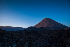 Volcano. In a dry and rocky landscape Royalty Free Stock Images