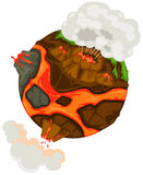 Volcano earth Royalty Free Stock Photo