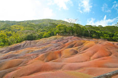 Volcano earth in Chamarel, Mauritius Stock Images