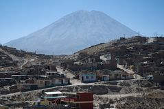 Volcano El Misti, Arequipa, Peru Royalty Free Stock Photos