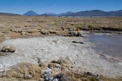 Volcano El Misti and volcano Nevado Chachani royalty free stock photo