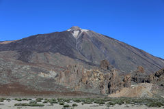 Volcano El Teide i Tenerife, Spanien Arkivfoto