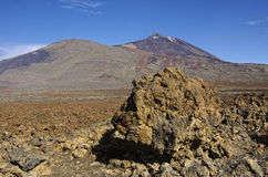 Volcano El Teide, island Tenerife, Spain. royalty free stock images