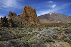 Volcano El Teide and Los Roques. royalty free stock images