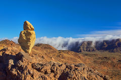 Volcano El Teide, parco nazionale di Tenerife Rocce e volcani della lava Fotografia Stock Libera da Diritti