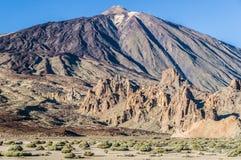 Volcano El Teide and surrounding caldera, Tenerife Royalty Free Stock Photo