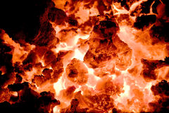 Volcano embers 2 Stock Image