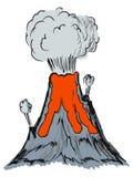 Volcano erupting Stock Photo