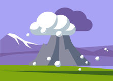 Volcano Erupting In Iceland royaltyfri illustrationer