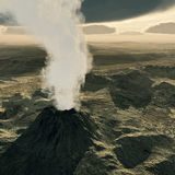 Volcano eruption. The beginning phase Stock Photos