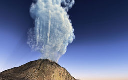 Volcano eruption. Young volcano finally being born Royalty Free Stock Images