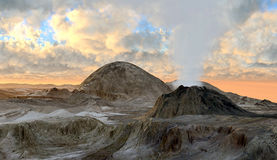 Volcano eruption Stock Photography
