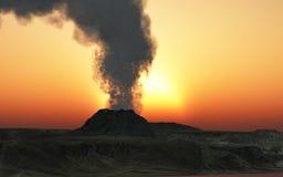 Volcano eruption. Young volcano finally being born Stock Photos