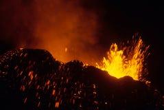 Volcano eruption royalty free stock photos