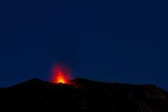 Volcano eruption Royalty Free Stock Image