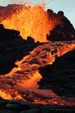 Volcano eruption. In Reunion Island royalty free stock image