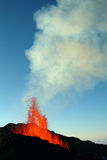Volcano eruption. In Reunion island Royalty Free Stock Image