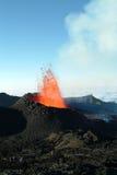Volcano eruption stock image