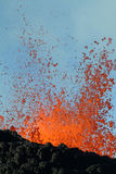 Volcano eruption. In Reunion island royalty free stock images