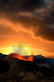 Volcano eruption. (Reunion island, august 2003 Stock Photography