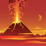 Volcano Eruption Stock Image