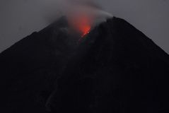 VOLCANO ERUPTION DAMAGE RECOVERY Royalty Free Stock Photography