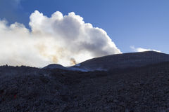 Volcano eruption Stock Photography