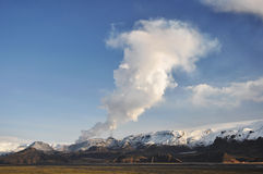 Volcano eruption, Iceland Stock Images