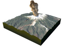 Volcano eruption Mount Ontake, Japan Royalty Free Stock Photo