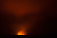 Volcano eruption at night Royalty Free Stock Photo