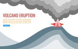 Volcano Eruption Vector para el gráfico de la información libre illustration