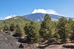 The volcano Etna Stock Photography