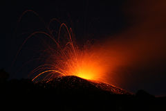 Volcano etna eruption. In july 2008 royalty free stock photos