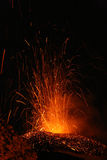 Volcano etna eruption Royalty Free Stock Image