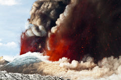 Volcano Etna Eruption Royalty Free Stock Photos