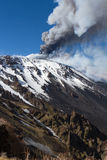 Volcano etna eruption Stock Photography