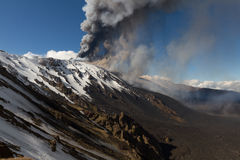 Volcano etna eruption Stock Photos