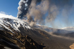 Volcano etna eruption Stock Images